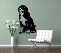 Wandtattoo Berner Sennenhund 01DR mit dem Namen Ihres Hundes
