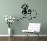 Wandtattoo Bloodhound 02DR mit dem Namen Ihres Hundes