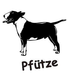Wandtattoo Bull Terrier mit dem Namen Ihres Hundes 01