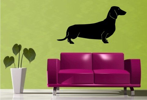 wandtattoo dachshund mit dem namen ihres hundes. Black Bedroom Furniture Sets. Home Design Ideas