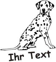 Wandtattoo Dalmatinier DR mit dem Namen Ihres Hundes