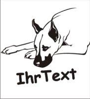 Wandtattoo Great Dane mit dem Namen Ihres Hundes