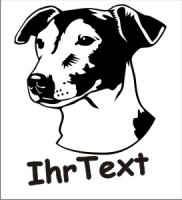 Wandtattoo Jack Russell 02DR mit dem Namen Ihres Hundes