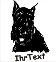 Wandtattoo Scottish Terrier 01 mit dem Namen Ihres Hundes