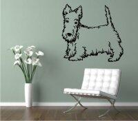 Wandtattoo Scottish Terrier 02 mit dem Namen Ihres Hundes