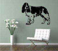 Wandtattoo Springer Spaniel mit dem Namen Ihres Hundes