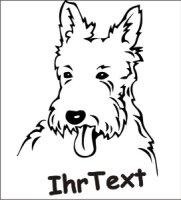 Wandtattoo West Highland Terrier, Westie mit dem Namen Ihres Hundes