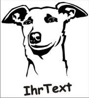 Wandtattoo Windhund mit dem Namen Ihres Hundes