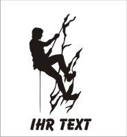 Bergsteigen Aufkleber Autoaufkleber mit Text