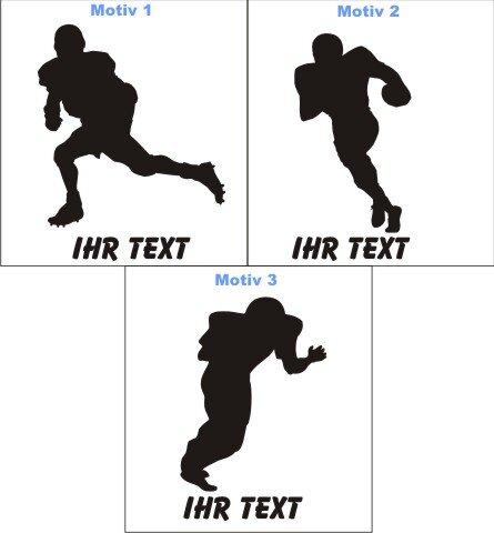 Football Aufkleber Autoaufkleber mit Text