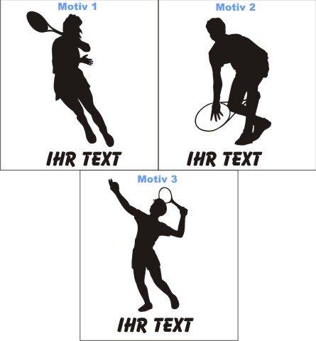 Tennis Aufkleber Autoaufkleber mit Text