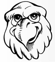 Adlerkopf Aufkleber, Adler Vogelaufkleber Lustiger Eagle...