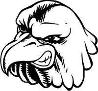 Adlerkopf Aufkleber, Vogelaufkleber Eagle Head MG