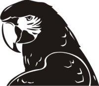 Ara Aufkleber, Vogelaufkleber Macaw Sticker