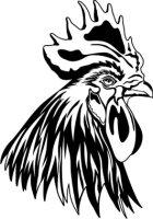 Hahn Kopf Aufkleber, Vogelaufkleber Rooster Head Sticker