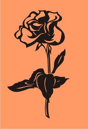 Rose Aufkleber Blumenaufkleber