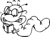 Bookworm Aufkleber