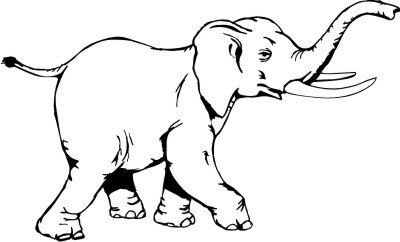 Elefant DH Aufkleber