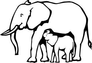 Elefant, Elefanten-Baby Aufkleber