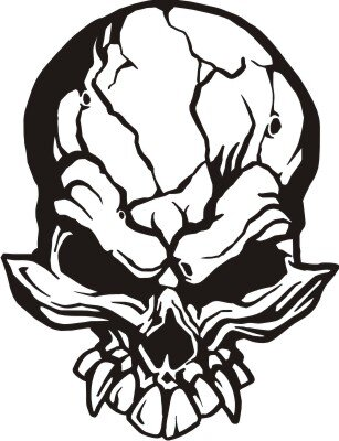 Totenkopf Skull Aufkleber, Totenkopfaufkleber M-01