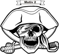 Totenkopf Skull Aufkleber, Totenkopfaufkleber M-02