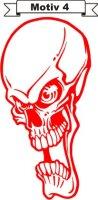 Totenkopf Skull Aufkleber, Totenkopfaufkleber M-04
