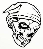 Totenkopf Skull Aufkleber, Totenkopfaufkleber M-05