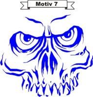 Totenkopf Skull Aufkleber, Totenkopfaufkleber M-07
