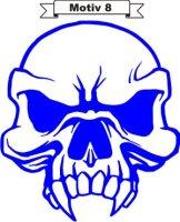 Totenkopf Skull Aufkleber, Totenkopfaufkleber M-08