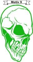Totenkopf Skull Aufkleber, Totenkopfaufkleber M-09
