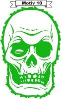 Totenkopf Skull Aufkleber, Totenkopfaufkleber M-10