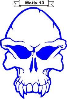 Totenkopf Skull Aufkleber, Totenkopfaufkleber M-13