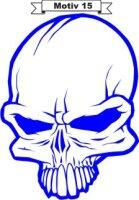 Totenkopf Skull Aufkleber, Totenkopfaufkleber M-15