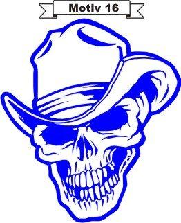 Totenkopf Skull Aufkleber, Totenkopfaufkleber M-16