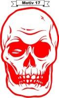 Totenkopf Skull Aufkleber, Totenkopfaufkleber M-17
