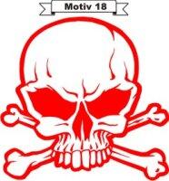 Totenkopf Skull Aufkleber, Totenkopfaufkleber M-18