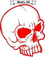 Totenkopf Skull Aufkleber, Totenkopfaufkleber M-20