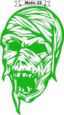Totenkopf Skull Aufkleber, Totenkopfaufkleber M-22