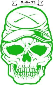 Totenkopf Skull Aufkleber, Totenkopfaufkleber M-23