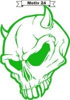Totenkopf Skull Aufkleber, Totenkopfaufkleber M-24
