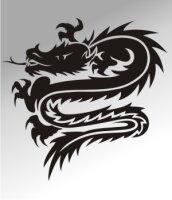 MO02 Drachen Aufkleber Drache Autoaufkleber Dragon Sticker