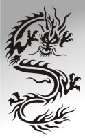 MO06 Drachen Aufkleber Drache Autoaufkleber Dragon Sticker