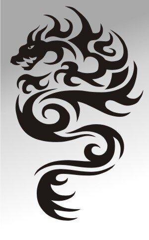 MO07 Drachen Aufkleber Drache Autoaufkleber Dragon Sticker