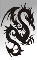 MO09 Drachen Aufkleber Drache Autoaufkleber Dragon Sticker