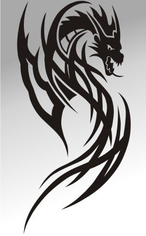 MO10 Drachen Aufkleber Drache Autoaufkleber Dragon Sticker