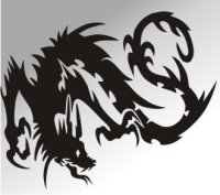 MO13 Drachen Aufkleber Drache Autoaufkleber Dragon Sticker