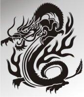 MO15 Drachen Aufkleber Drache Autoaufkleber Dragon Sticker