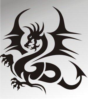 MO16 Drachen Aufkleber Drache Autoaufkleber Dragon Sticker