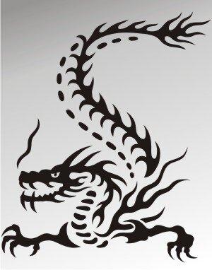 MO19 Drachen Aufkleber Drache Autoaufkleber Dragon Sticker