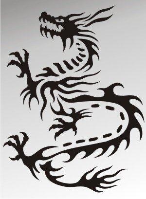 MO20 Drachen Aufkleber Drache Autoaufkleber Dragon Sticker